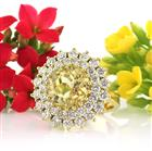 16.79ctw Natural Yellow Sapphire and Diamond Ring