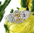 2.03ct Fancy Yellow Oval Cut Diamond Engagement Ring
