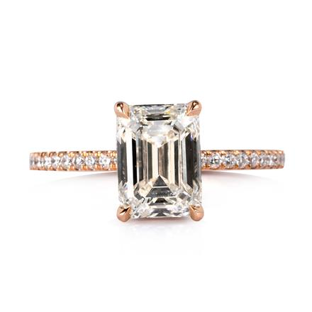 2 38ct emerald cut engagement ring