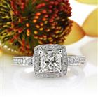 1.86ct Princess Cut Diamond Engagement Ring