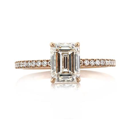 1 76ct emerald cut engagement ring