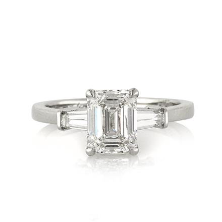 2 26ct emerald cut engagement ring