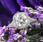 2.20ct Antique Cushion Cut Diamond Engagement Ring