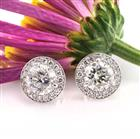 3.55ct Round Brilliant Cut Diamond Stud Earrings