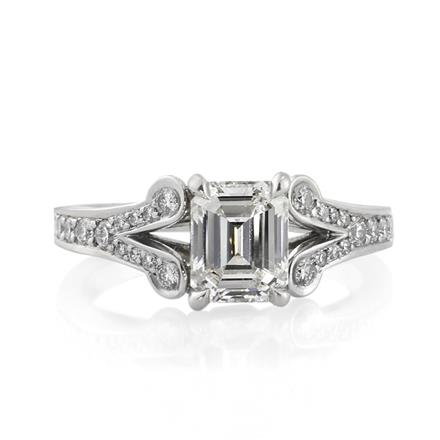 2 01ct emerald cut engagement ring