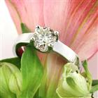 0.96ct Round Brilliant Cut Diamond Solitaire Engagement Ring