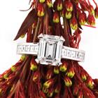 3.26ct Emerald Cut Diamond Engagement Ring
