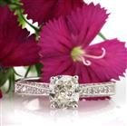 1.60ct Cushion Cut Diamond Engagement Ring