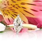 1.37ct Marquise Cut Diamond Solitaire Engagement Ring