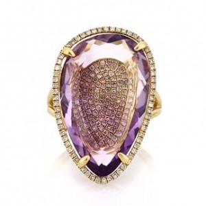 Amethyst and Pave Diamond Right-Hand | Mark Broumand