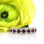 1.18ct Round Cut Ruby and Diamond Right-Hand Ring | Mark Broumand