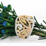 1.80ct Fancy Color and Diamond Right-Hand Ring | Mark Broumand