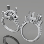 Custom Jewelry 3D Rendering | Mark Broumand