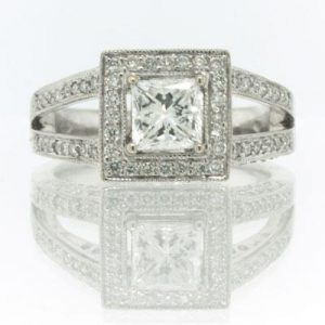 1.84ct Princess Cut Diamond Engagement Ring | Mark Broumand