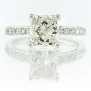 2.42ct Radiant Cut Diamond Engagement Ring