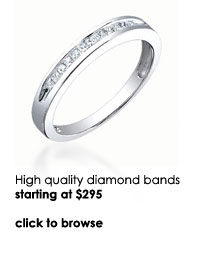 Diamond wedding bands from Mark Broumand