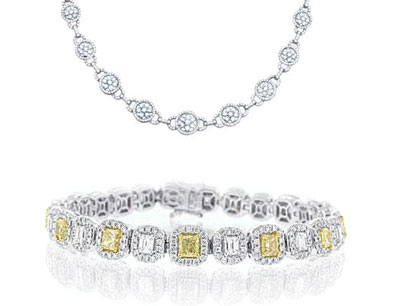 Diamond Necklaces and Bracelets | Mark Broumand