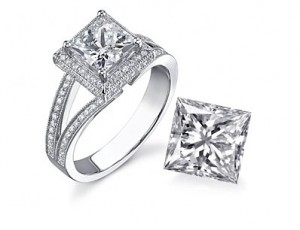 Princess Cut Diamond Ring | Mark Broumand