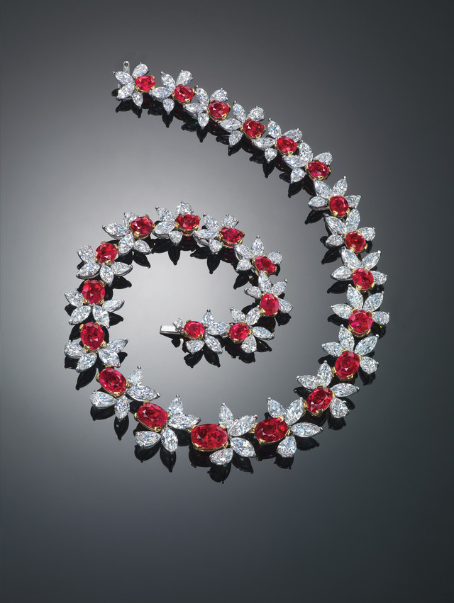 Jewelry as an Investment Burmese Ruby Necklace   Mark Broumand