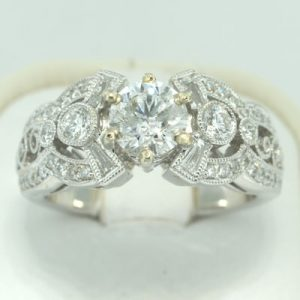 1.51ct Round Cut Diamond Engagement Ring | Mark Broumand