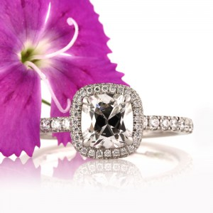 1.55ct Antique Cushion Brilliant Diamond Engagement Ring | Mark Broumand