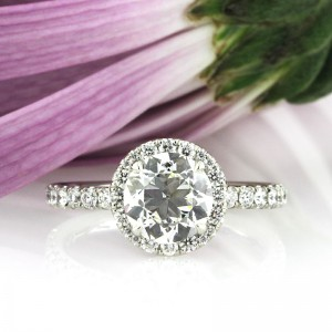 2.41ct Antique European Round Cut Diamond Engagement Ring | Mark Broumand