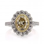 Fancy Yellow Oval Cut Diamond Engagement Ring | Mark Broumand