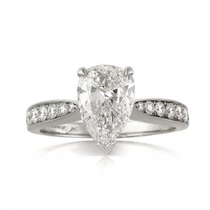 2.56ct pear shaped diamond engagement ring | Mark Broumand