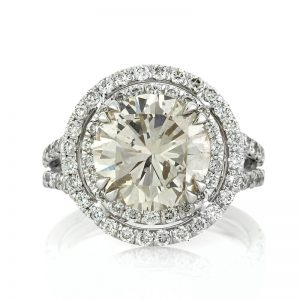 5.03ct round brilliant cut diamond engagement ring | Mark Broumand