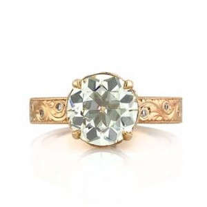 Antique European Round Cut Diamond Ring
