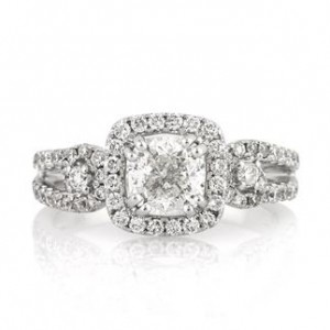 Cushion Cut Diamond Engagement Ring Square Shape | Mark Broumand