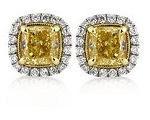 Custom Yellow Diamond Earrings | Mark Broumand