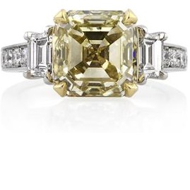 Custom Yellow Diamond Engagement Ring | Mark Broumand