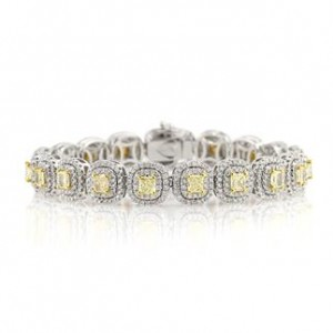 Fancy Yellow Diamond Bracelet | Mark Broumand