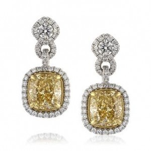 Fancy Yellow Diamond Earrings | Mark Broumand