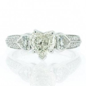 Heart Shaped Diamond Engagement Ring | Mark Broumand