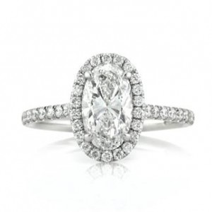Oval Cut Diamond Engagement Ring | Mark Broumand