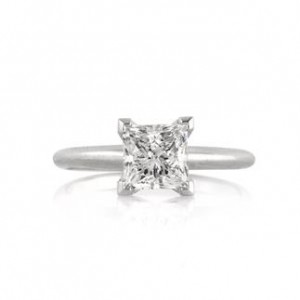 Princess Cut Diamond Engagement Ring | Mark Broumand
