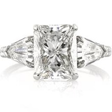 Radiant Cut Engagement Ring Trillion Accent Stones | Mark Broumand