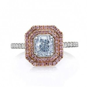 Radiant Cut Light Blue Diamond Engagement Ring | Mark Broumand