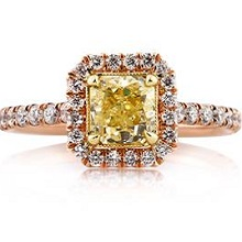 Radiant Cut Yellow Diamond Engagement Ring | Mark Broumand