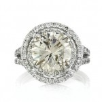 Round Cut Halo Diamond Engagement Rings | Mark Broumand