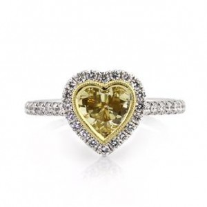 Yellow Heart Shaped Engagement Rings | Mark Broumand