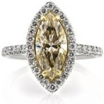 Yellow Marquise Cut Diamond Ring | Mark Broumand