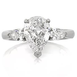 pear shaped diamond engagement rings | Mark Broumand