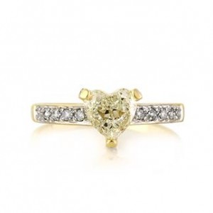 1.14ct Heart Shaped Diamond Engagement Ring