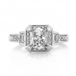 2.51ct Cushion Cut Diamond Engagement Ring | Mark Broumand