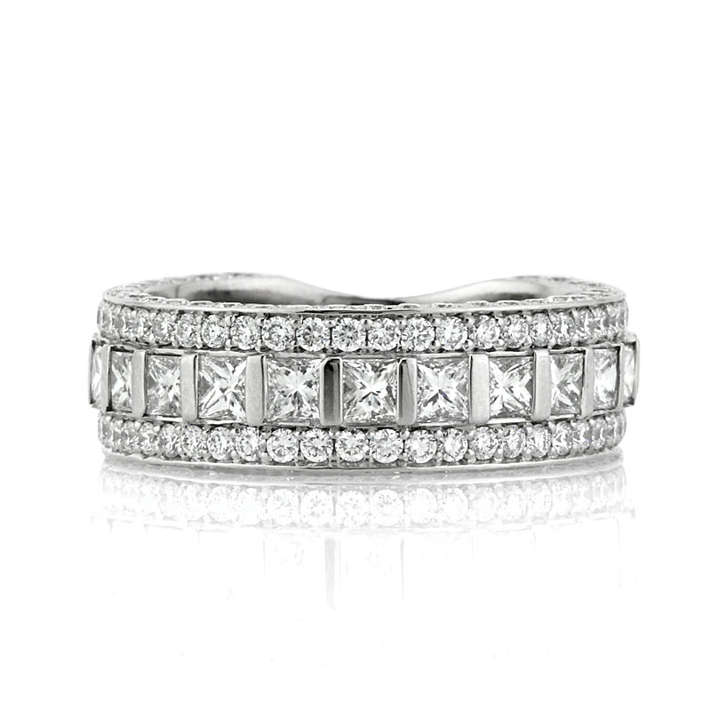 vs anniversary s is f diamond image loading ct ring cut white itm new platinum round bands in