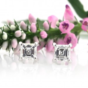 0.72ct Asscher Cut Diamond Stud Earrings | Mark Broumand