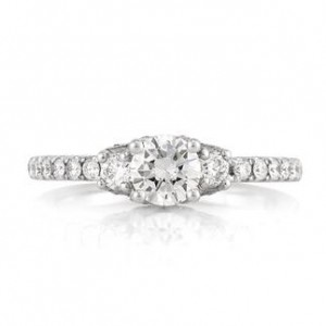 1.07ct Round Brilliant Cut Diamond Engagement Ring